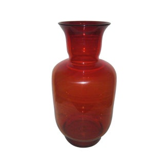 Very Large Ruby Blenko Vase