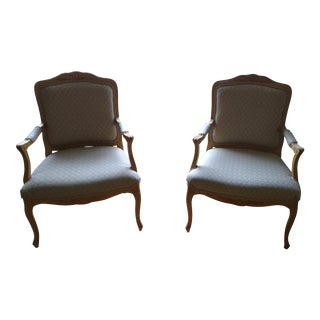 French Louis XV Style Armchairs - A Pair