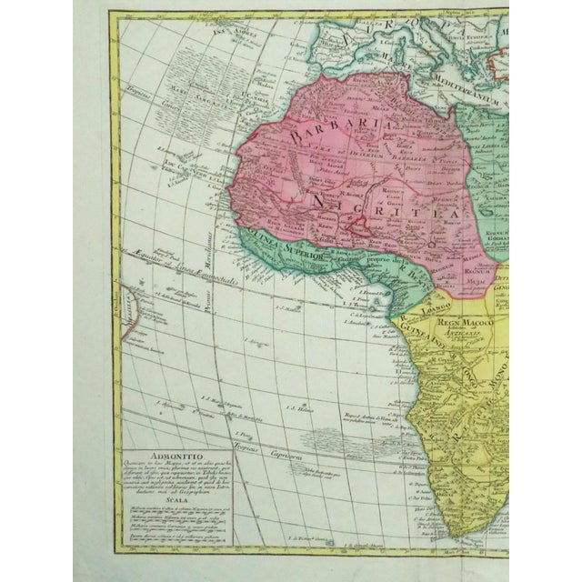 1778 Africa Map by Lotter - Image 7 of 10