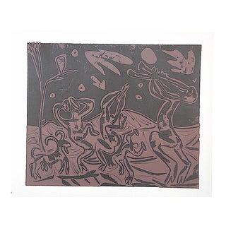 """Vintage Picasso Lithograph-""""Les Danseurs Au Hibou"""""""