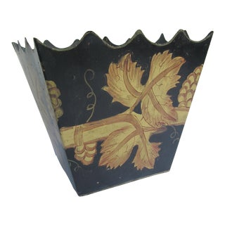 Vintage Black Tole Planter