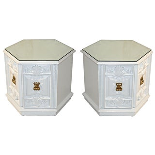 Vintage Lane Hexagon End Tables - Pair