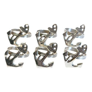 Anchor Napkin Rings- Set of 6