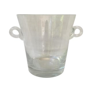 Glass Handled Ice Bucket