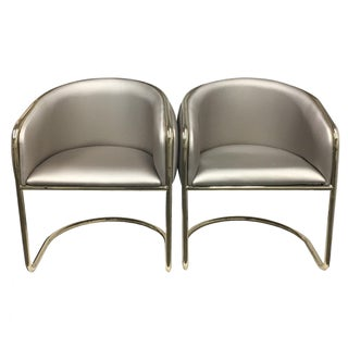 Mid-Century Thonet Style Barrel Chairs - a Pair