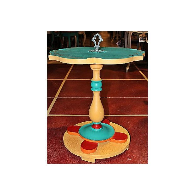 Image of Painted Solid Wood Side Table