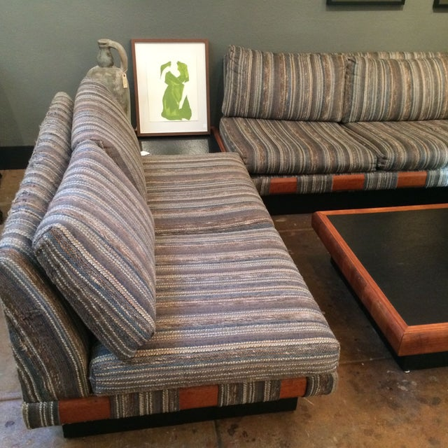 1960s Adrian Pearsall Platform Sofa and Table Set - Image 7 of 10