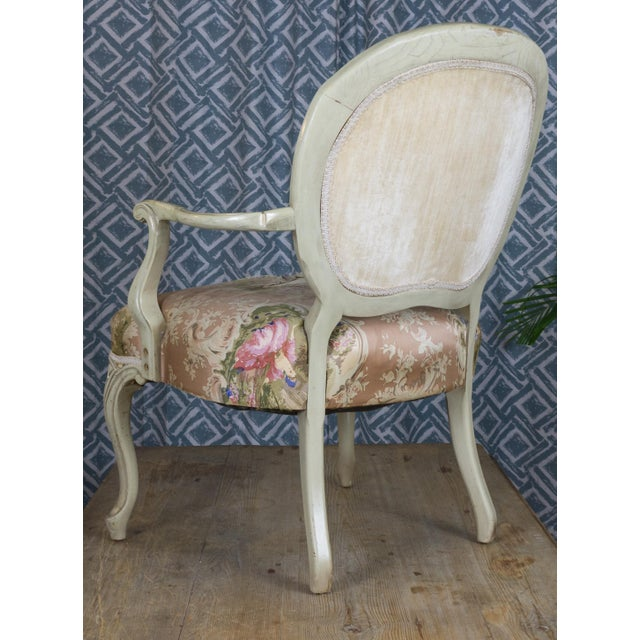 Vintage Louis XV Style Armchair - Image 7 of 7