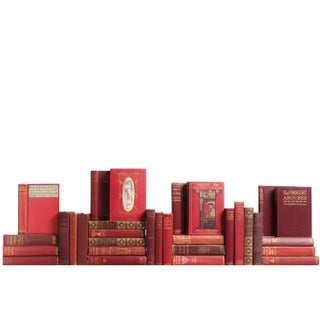 Vintage Marsala-Hued Books - Set of 31