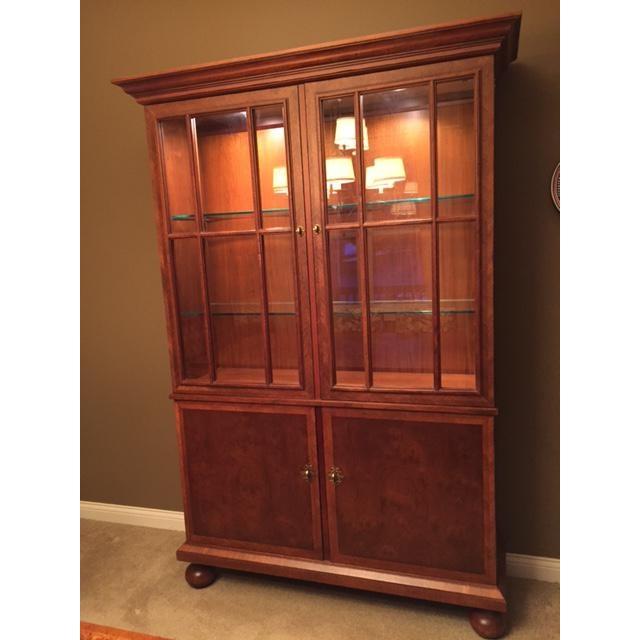 Image of Baker Furniture Burl Wood China Cabinet