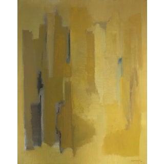 Original Yellow Abstract Painting by Robert Baranet