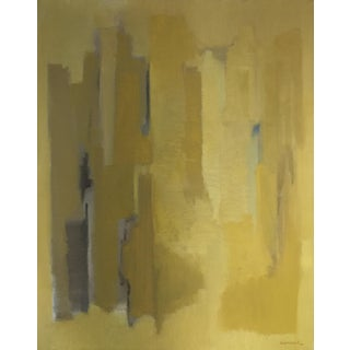 Original Yellow Abstract Painting by Robert Baranet