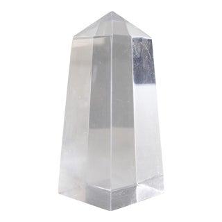 Vintage Lucite Obelisk Decorative Object Mid Century Modern