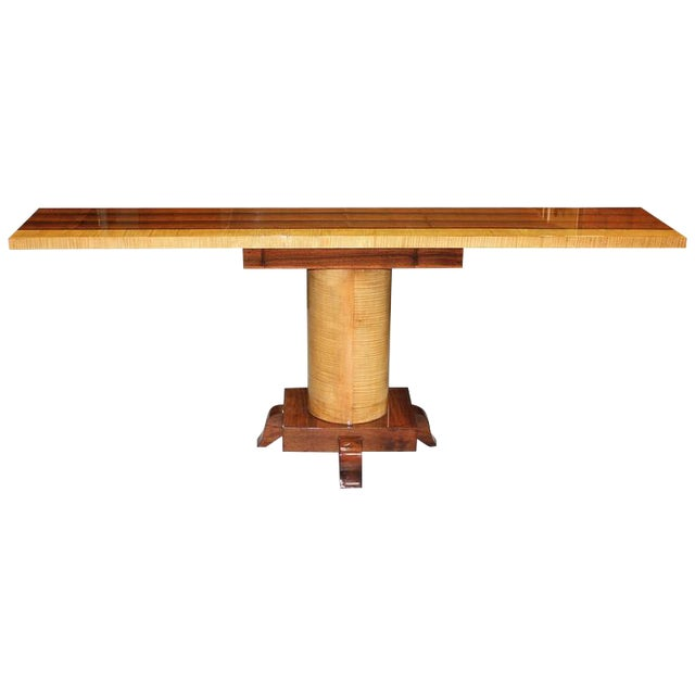 French Art Deco Palisander Console Table - Image 1 of 10