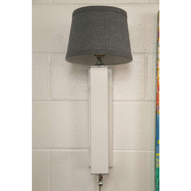 Image of Pair of Midcentury Wall Sconce with Lucite Accents