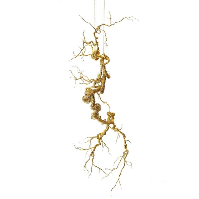 Untitled Twisted Brass Lit Sculpture - Image 2 of 7