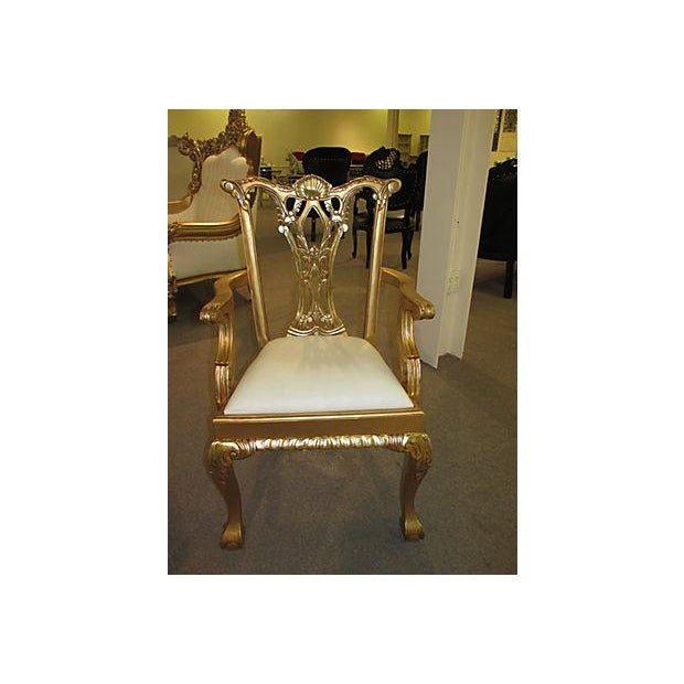 Image of Gold Dinning Chairs - Set of 6