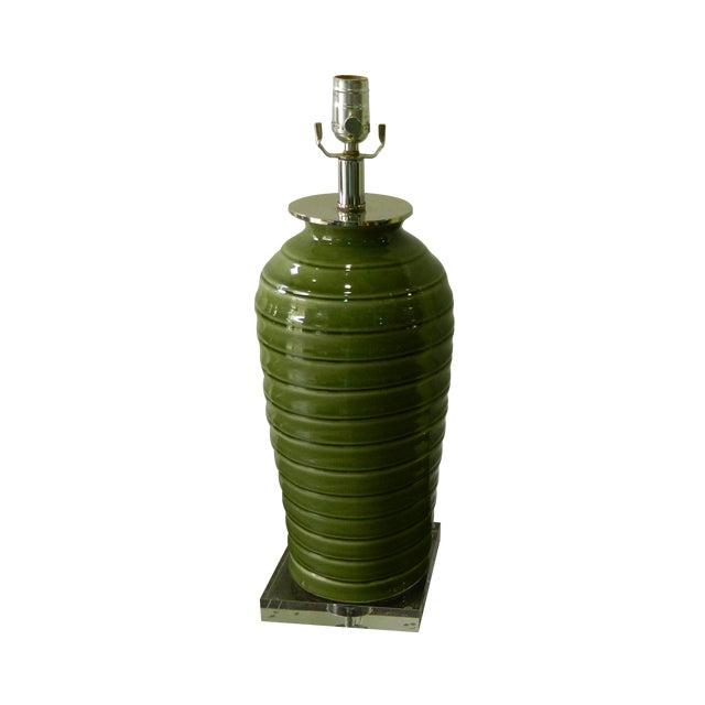 Image of Palm Green Lamp