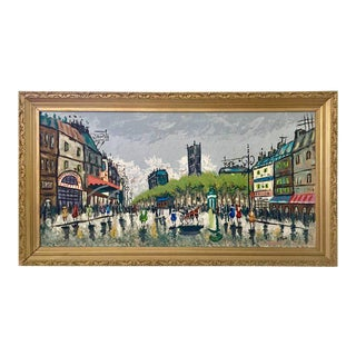 Original Impressionist Oil Painting By B. Fame Paris