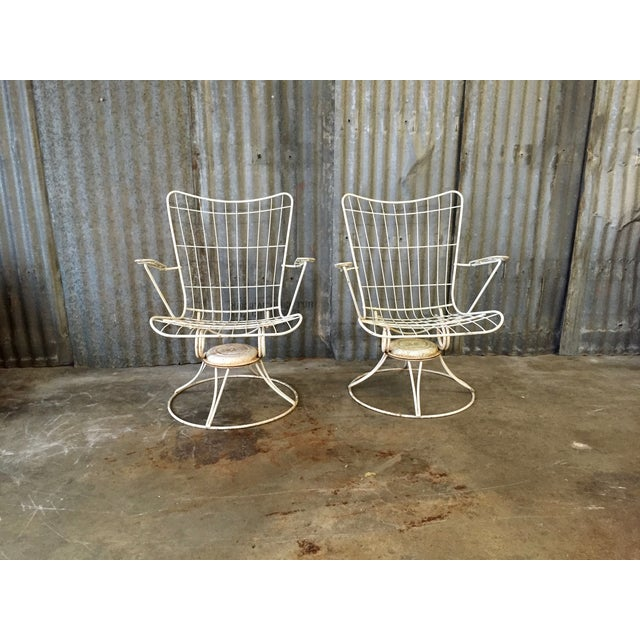 Vintage Homecrest Swivel Chairs - A Pair - Image 3 of 11