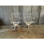 Image of Vintage Homecrest Swivel Chairs - A Pair
