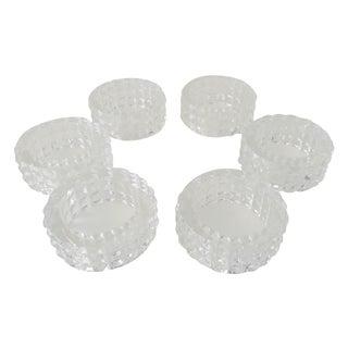 Crystal Diamond Point Napkin Holder Rings - Set/6