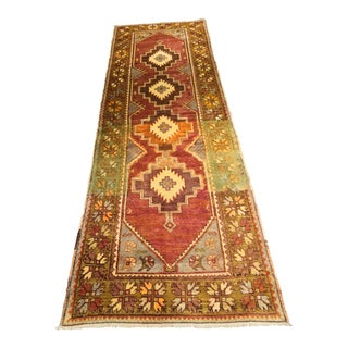 "Vintage Bellwether Rugs Turkish Oushak Runner - 2'11""x9'4"""