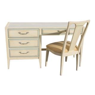 1960s Vintage Mid Century Modern Writing Desk & Chair