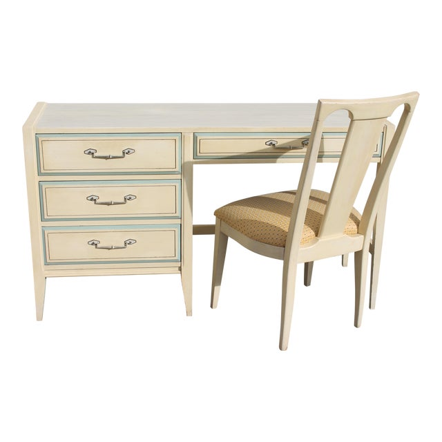 1960s Vintage Mid Century Modern Writing Desk & Chair - Image 1 of 10