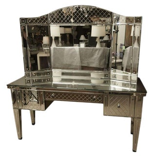 Fabulous Custom Designed Vanity with Trifold Mirror
