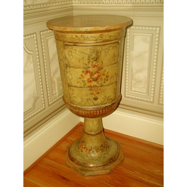 Picie Italian Hand Painted 19th C. Pedestal Table - Image 2 of 10