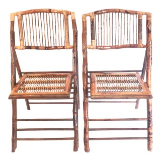 Bamboo Collapsible Party Chairs - A Pair