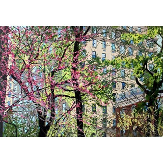 """Josh Moulton """"Redbuds in Central Park"""" Giclee Print After a Painting"""