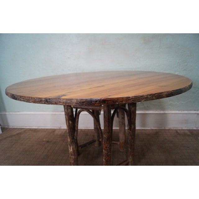 Old Hickory Rustic Tree Form, Round Dining Table - Image 8 of 10