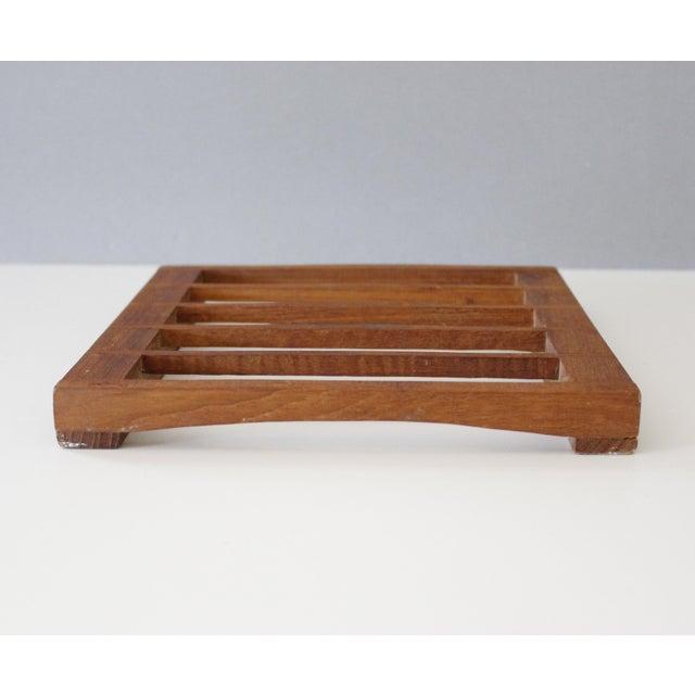 Kalmar Teak Wood Trivet Danish Modern Chairish