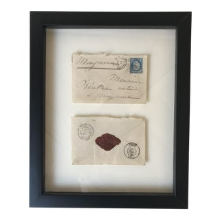 Vintage Framed French Envelope