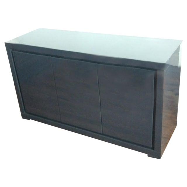 Medium Indigo Lacquered Cabinet Credenza - Image 1 of 8