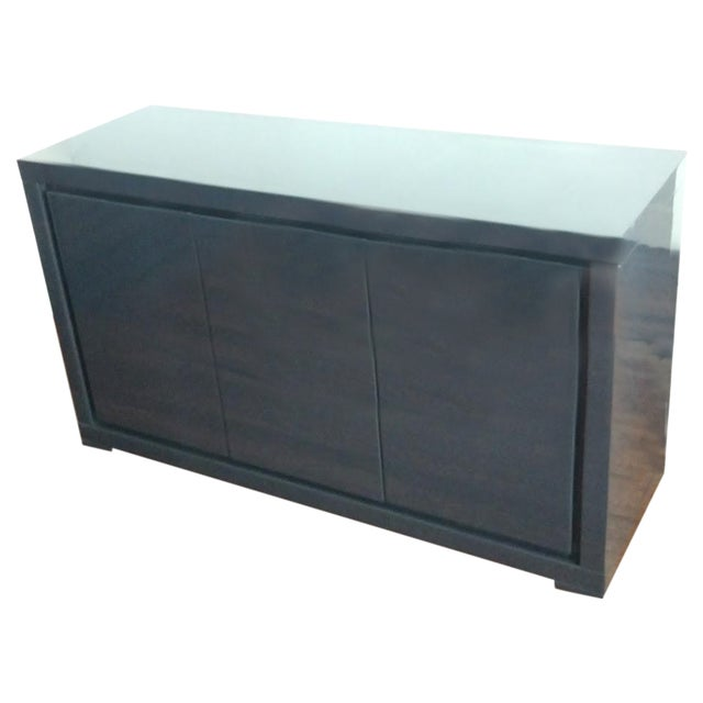 Image of Medium Indigo Lacquered Cabinet Credenza