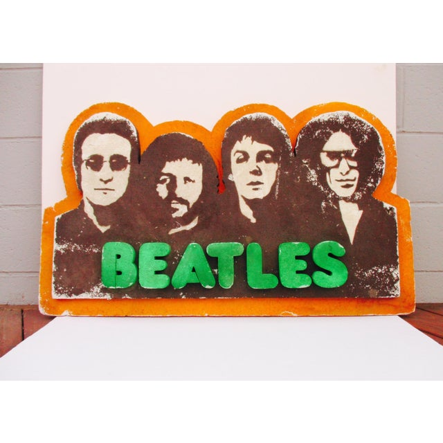 Beatles Authentic Capitol Record Promo Display 1970s Wall Decor Record Vinyl Collectors Beatles Fans - Image 2 of 8