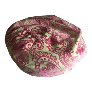 Retro Pink Burnt Velvet Bean Bag Chair