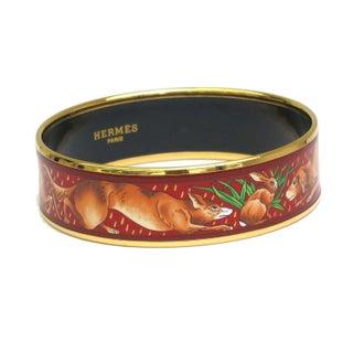 Hermes Bangle Bracelet with Animals