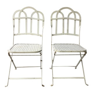 Vintage Amp Used White Patio And Garden Furniture