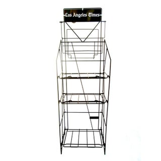 Vintage Industrial LA Times Display Stand/Rack