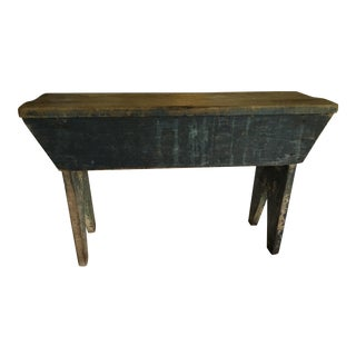 1800s Original Paint Blue Bench