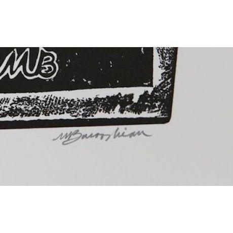 "Martin Barooshian, ""Maestro,"" Intaglio Etching - Image 2 of 2"