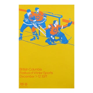 1971 British Columbia Festival of Winter Sports Hockey Poster
