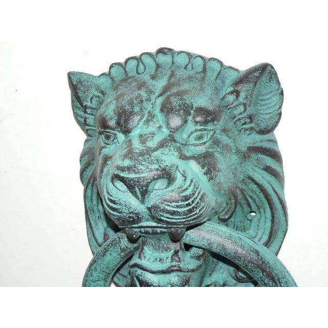 Image of Verdigris Metal Lion's Head Ring