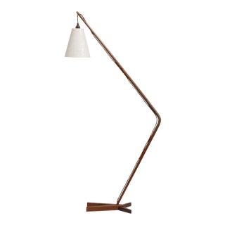 A Rare Danish Teak Floor Lamp designed for Fog and Morup circa 1955-65
