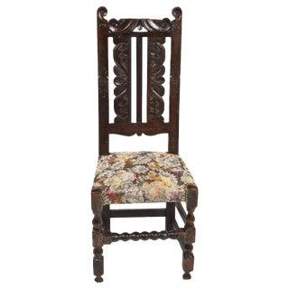 17th-C. Flemish Oak Carved Chair
