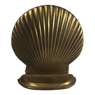 Brass Seashell Bookend